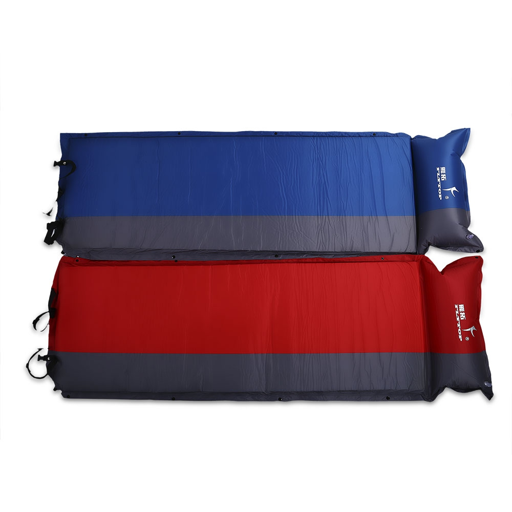Air bed for camping - Automatic Inflatable Mattress Camping Mat Outdoor Cushions Inflatable Air Mattress Camping Sleeping Pad With Pillow