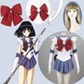 Athemis Anime Sailor Moon Sailor Saturn Cosplay Costume custom made Dress High Quality