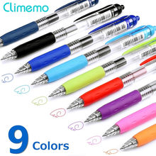 0.5mm Gel Pens For School Office Supplies Kawaii Press Type Multicolor ballpoint pen Cute stationery Writing Store(China)