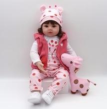 bebes reborn doll 48cm New Handmade Silicone reborn baby adorable Lifelike toddler  Bonecas girl kid menina de silicone surprice