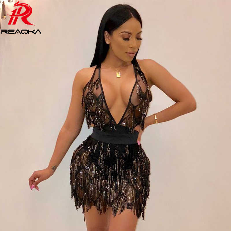 66cb2ddb6d Sexy bandage Backless Sequins Dress Women befree Black Gold Bodycon summer  Dress elegant Nightclub Party Dresses