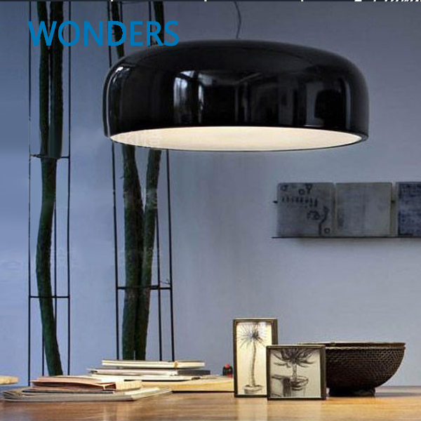 Modern Semicircle Cassic Pendant Lamp Smithfield Pendant Lights Dia35/48/60cm White/Black Lampshade With E27 bar/hotel/cafeModern Semicircle Cassic Pendant Lamp Smithfield Pendant Lights Dia35/48/60cm White/Black Lampshade With E27 bar/hotel/cafe