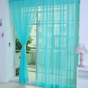 Image 5 - Farben Tüll Transluzenten Vorhang Tür Fenster Vorhang Waschbar Drapieren Panel Sheer Schal Schabracken Hause Dekoration Vorhänge