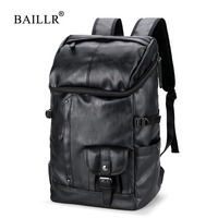 BAILLR Brand Men Large Capacity Bag Travel Laptop Backpack Waterproof College Tide Casual Men S Backpacks