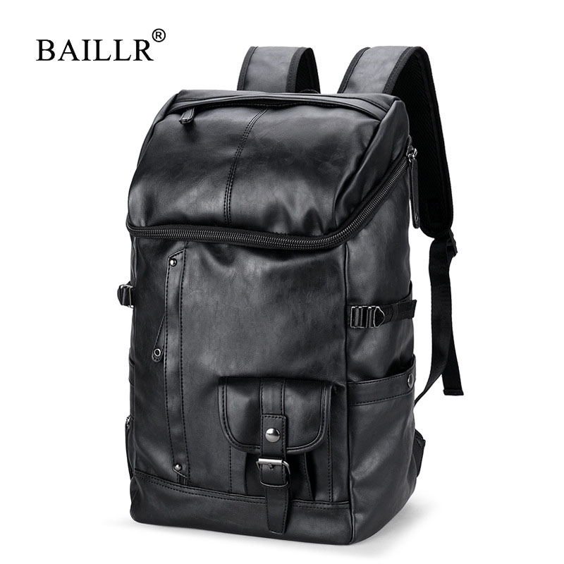 BAILLR Brand Men Large Capacity Bag Travel Laptop Backpack Waterproof College Tide Casual Men's Backpacks School Bag men casual augur 2018 brand men backpack waterproof 15inch laptop back teenage college dayback larger capacity travel bag pack for male