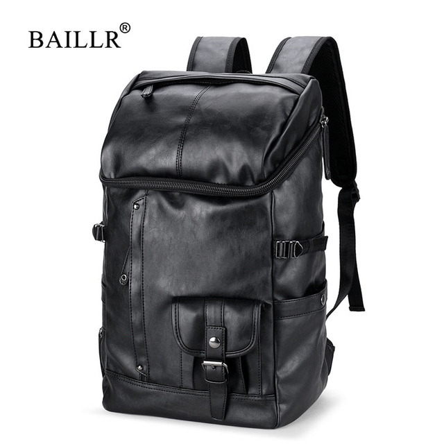 c186e3c14b76 BAILLR Brand Men Large Capacity Bag Travel Laptop Backpack Waterproof  College Tide Casual Men s Backpacks School