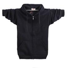 New Brand Dream Feather 2017 Streetwear Fashion Solid Color Hoody Man Sweatshirt Zipper Cardigan 90% Cotton Add Fleece big size