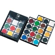 Картина акварелью, набор цветов, 12 видов цветной краски