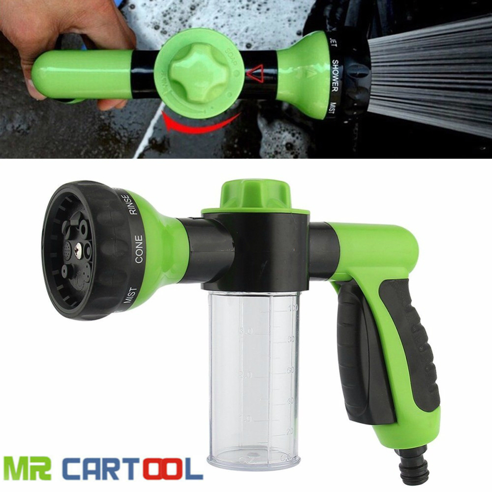 Washing Tool 8 in 1 Jet Spray Gun Soap Dispenser Auto Handheld Clean Cleaning Wash Garden Watering Hose Nozzle Car Washing Tool