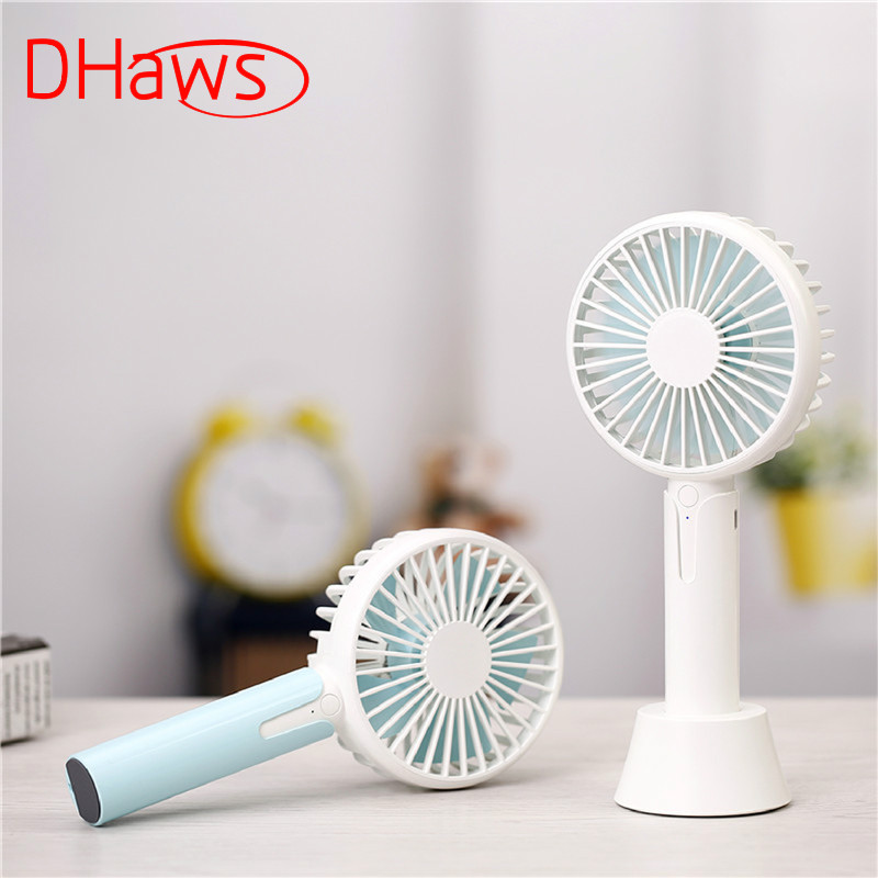Color : White Mini Portable Cooling Fan USB Handheld Fan Mini Silent Desktop Portable Table Stand Fan Air Cooling for Home Office Travel