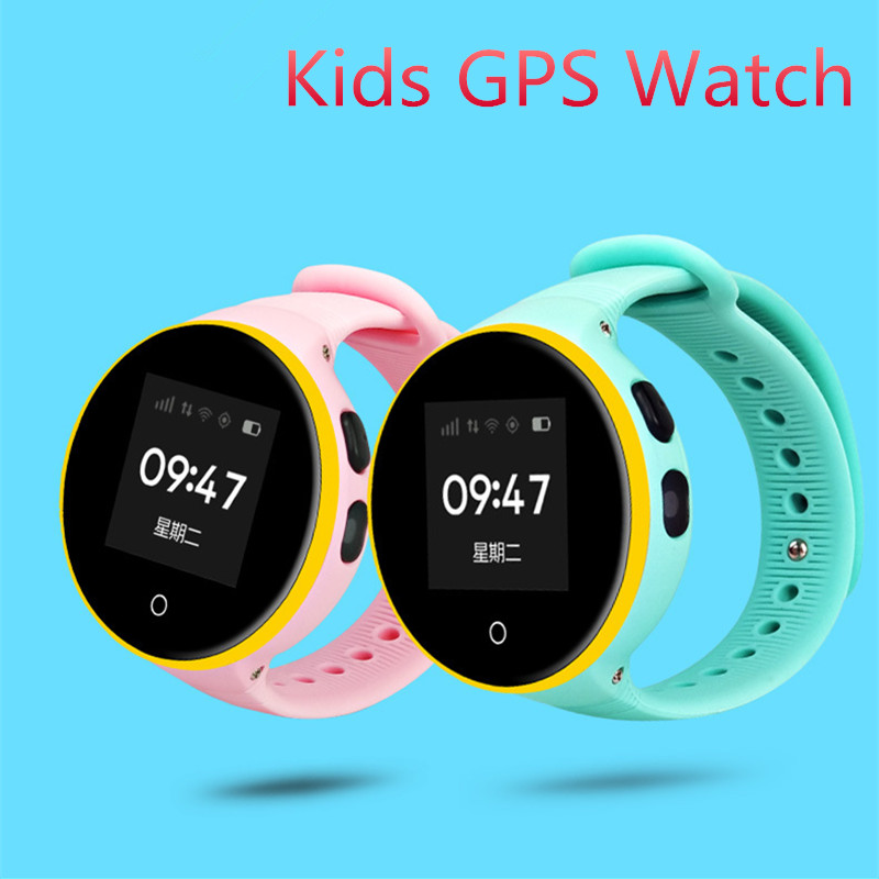 Kids GPS Smart Watch with Camera Baby Safety Round Watch Waterproof Blue Pink Black SOS SIM Call Child Anti-Lost Monitor Watches