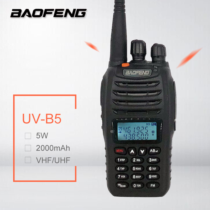 2019 Baofeng UV-B5 Walkie Talkie Samll Size Ham Radio Comunicador UHF VHF Two Way Radio Station UVB5 HF SDR Transceiver FM VOX