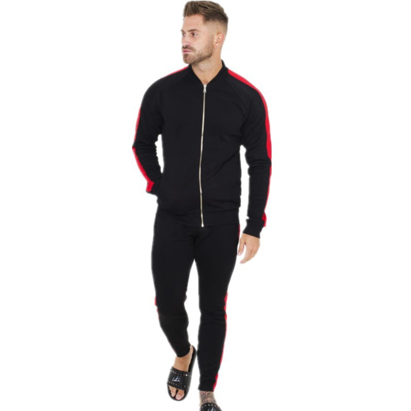 FRMARO New Hot Selling tracksuit men clothes 2019 gyms new track suit Bodybuilding high quality Fitness mens track suit sets in Men 39 s Sets from Men 39 s Clothing