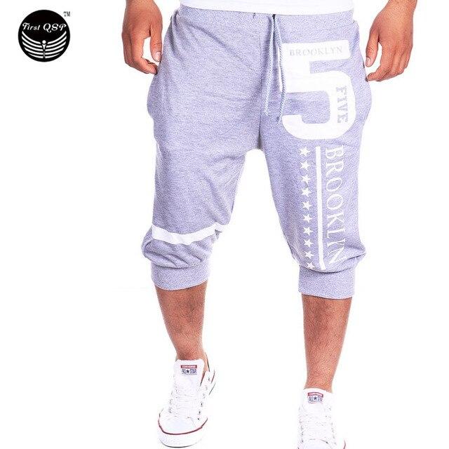 Shorts Mens   Tights Compression Bermuda  Short   Number 5 Letters Printed  Men Homme   Shorts GOP