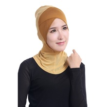 НОВЫЕ шикарные женские хиджаб Modal Исламской Кепки шапки ниндзя шеи крышка мусульманская Underscarf летние Повседневное солидные хиджабы-шарфы