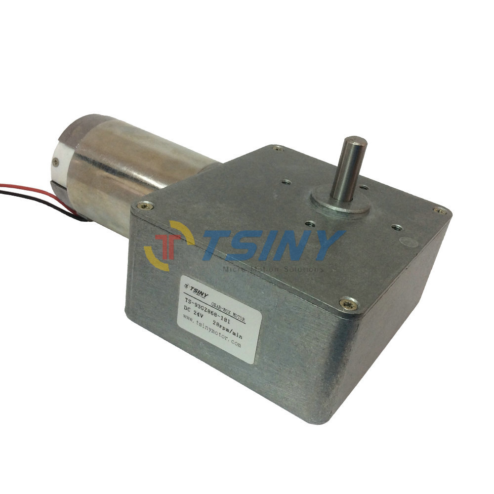 Buy Dc 24v 28rpm High Torque Worm Reducer Motor With Gearbox Geared