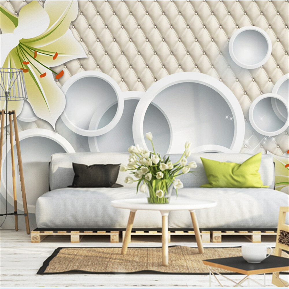 3D wall mural wallpapers for living room,Modern fashion beautiful ...