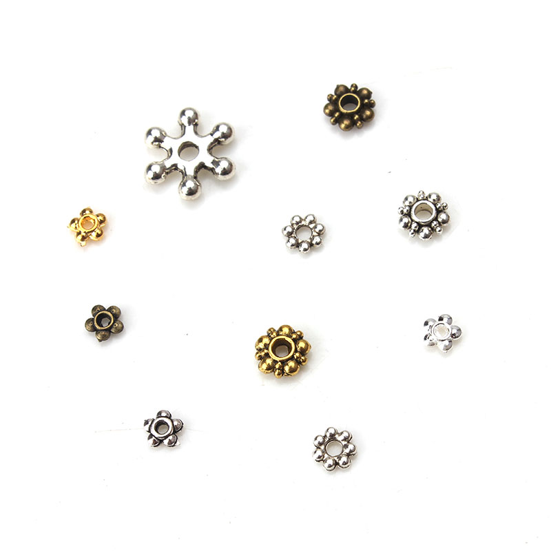 50pcs/lot 4.5-6mm Beads Jewelry Accessories Alloy Spacer Beads Jewelry Handmade Components