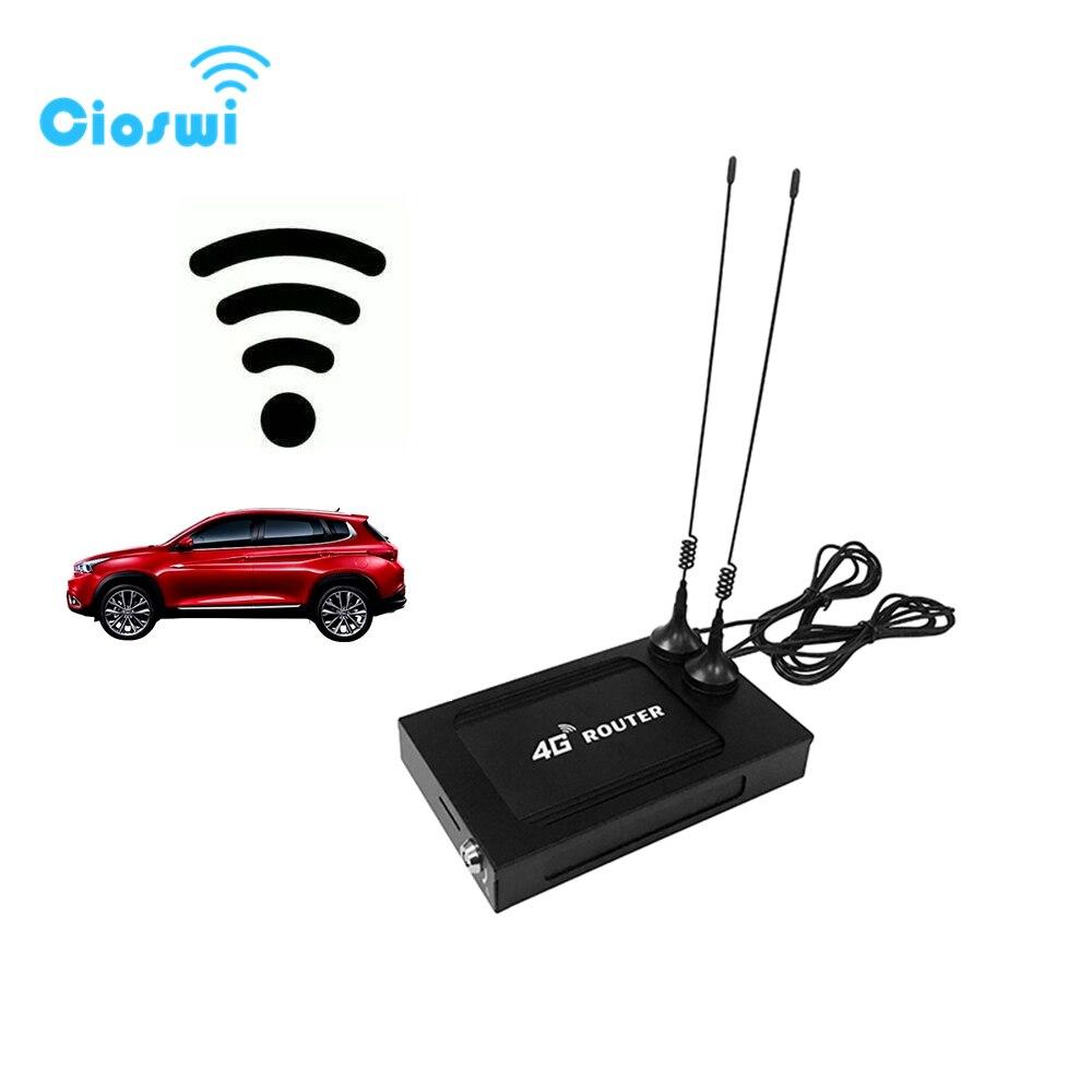 Cioswi Voiture Routeur 802.11AC Modem 4G Wifi Carte Sim Véhicule Routeur Portable Wi-Fi Powerline Adaptateur 9 V-28 V 7 Externe 5dbi Antenne