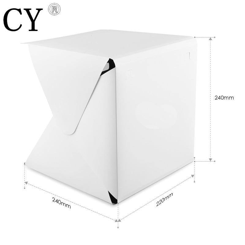 Inno Portable 22.6*23*24cm Mini Folding Softbox Photography Studio Softbox LED Light Soft Box for iPhone Samsang HTC DSLR Camera