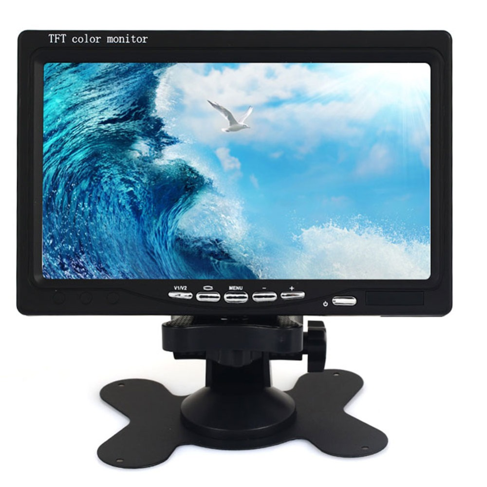 TFT 7 inch LCD Screen Portable TV 1080P Car Monitor TV 500:1 Support AV/VGA/ HDMI Ultra Thin HD Car Accessories цена 2017