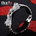Beier 925 prata esterlina pulseira elo da cadeia de alta qualidade dragão dominador homem zircão pulseira cadeia mão sctysl0034
