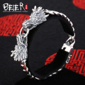 Beier 925 sterling silver bracelet high quality link chain domineering  dragon Zircon man bracelet hand chain SCTYSL0034