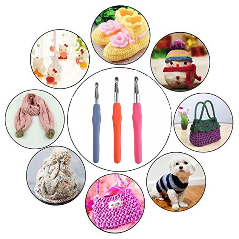 Large Size 8.0mm 9.0mm 10.0mm Crochet Hook Comfortable Grip Handles Crochet Needles Yarn Knitting Needles For Women Carpet Tools (1)