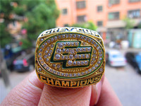 2003 Edmonton Eskimos The 91st Grey Cup Champions Ring Solid With Wooden Display Box Souvenir Sport