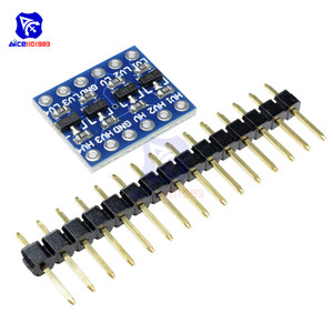 Image 3 - diymore 10PCS IIC I2C Logic Level Converter Bi Directional Board Module 5V 3.3V DC Module for Arduino with Pins High Low Voltage
