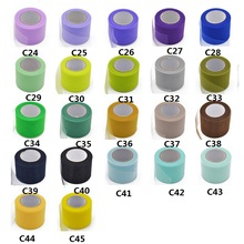 25Yards/lot 5cm Width Tulle Roll Fabric Spool Crafts Decorative Party Gift Wrap Wedding Decoration B