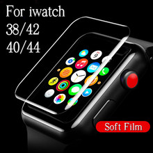 Protective Film For i Watch 1 2 3 4 38mm 42mm 40mm 44mm 38 40 42 44 Screen Protector On The Original Soft Full Cover (Not Glass)(China)