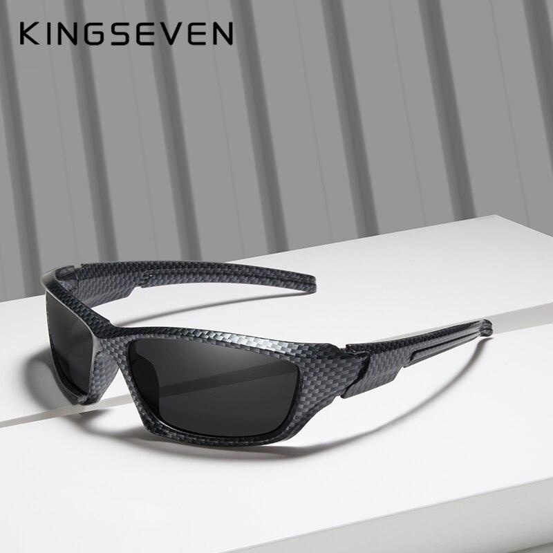 7b40b78e0e78 KINGSEVEN Brand 2019 Limited Sales TR90 Polarized Sunglasses Men Carbon  fiber Frame Fishing Driving Eyewear Sun Glasses Goggles