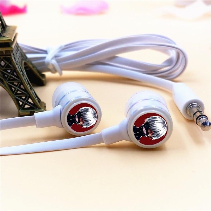 Anime Tokyo Ghoul Kaneki Ken In-ear Earphone 3.5mm Stereo Earbud Microphone Phone Game Music Headset for Iphone Samsung VIVO MP3