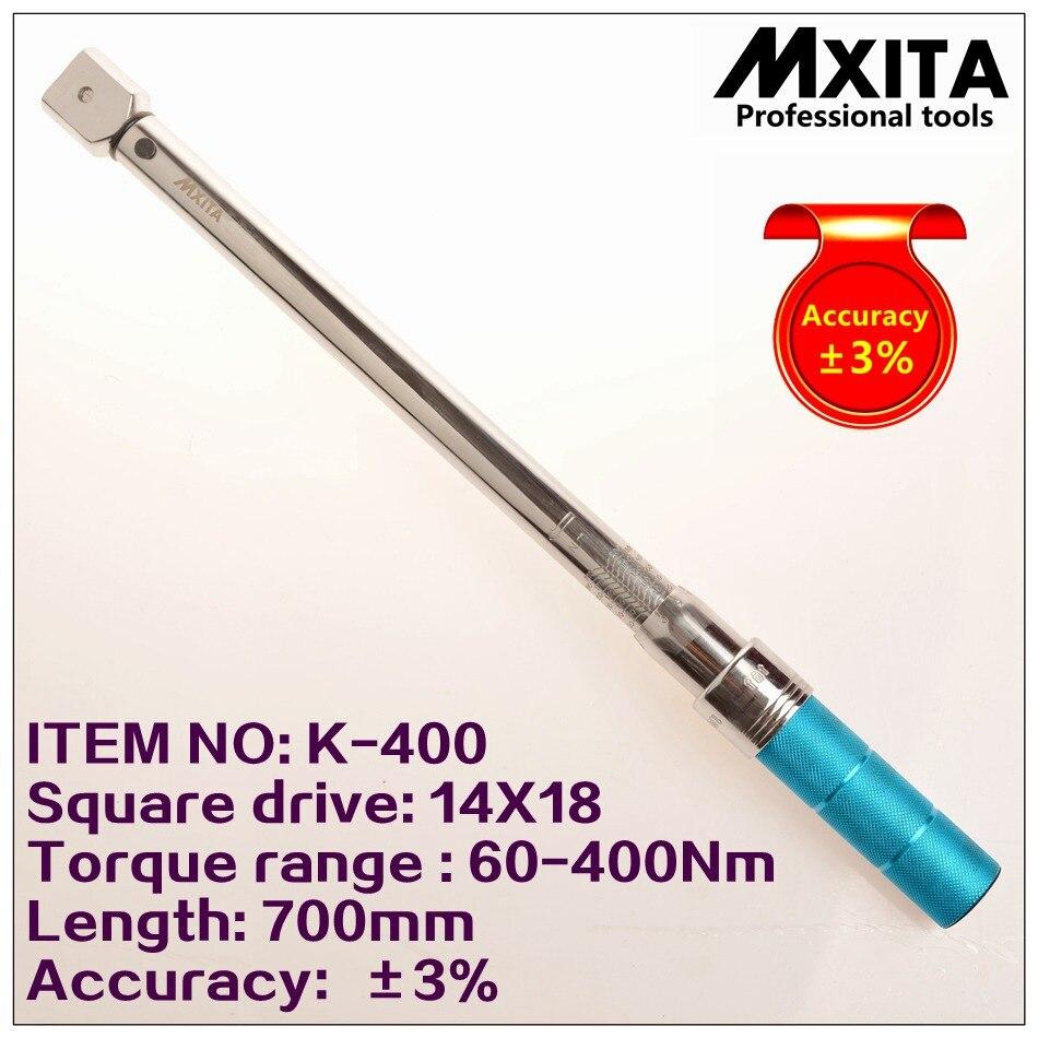 Mxita 14x18 60 400nm точность 3% Высокая точность профессиональный Регулируемый Гаечные ключи автомобиль гаечный ключ вставить состава головы