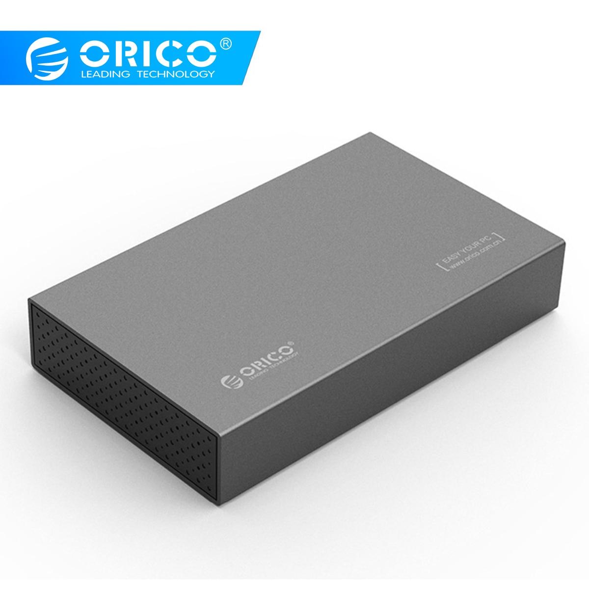 ORICO 3.5 cal typu C dysk twardy dysk twardy SSD obudowa zewnętrzna USB3.1 do SATA3.0 aluminium obudowa dysku twardego 5 gb/s na systemu Windows Mac XP