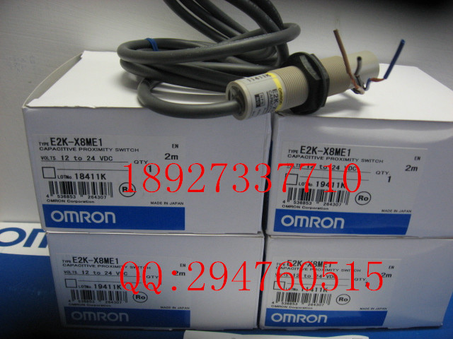 [ZOB] 100% new original optical proximity switch OMRON Omron E2K-X8ME1 2M capacitive proximity switch e2k x8me1 brand new