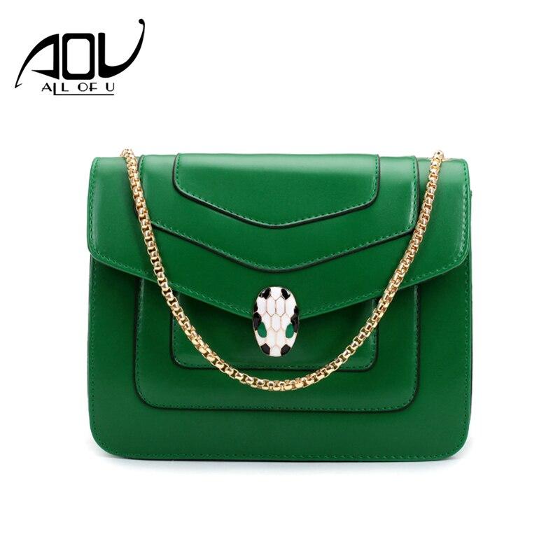 Women messenger bags 2018 famous brand snake head cross body shoulder bags Female luxury handbags ladies shoulder bolsos mujer