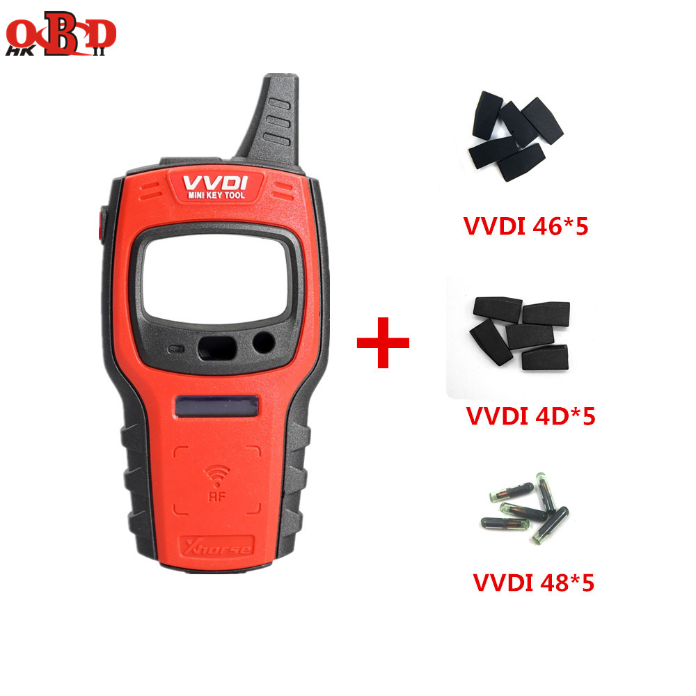 Original Xhorse VVDI Mini Key Tool Remote Key Programmer Support IOS/Android Free 96bit 48 Chip Clone with 15pcs VVDI Chips
