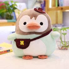 цена на 25cm Kawaii Penguin with bag Plush Toy Doll Soft Stuffed Penguin Cartoon Animal Toy Cute Birthday Gift for Children Baby Kid
