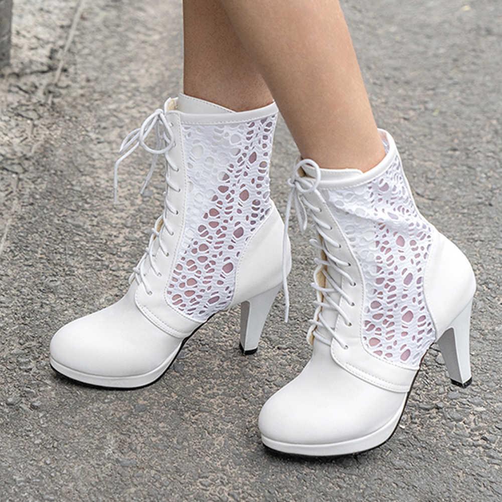 DORATASIA รองเท้าฤดูร้อนผู้หญิงแฟชั่น Elegant Party สุภาพสตรี Lace Up รอบ Toe Platform รองเท้าส้นสูงรองเท้าฤดูร้อน Plus ขนาด 31 -46