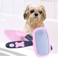 Detangling Comb Pet Dogs Hair Trimmer Grooming Rubber Anti Static Rake Taddy Small Animals Cleaning Brush