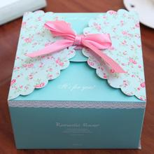 Party Christmas ribbon bowknot gift egg box romantic wedding candy favor box custom kraft paper cartoon flower cardboard boxes