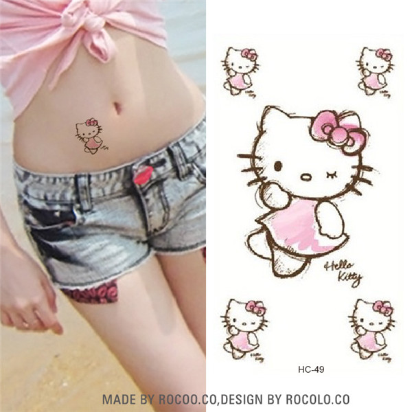 10 PCS Temporary Tattoo Stickers Temporary Body Art Supermodel Stencil Designs Waterproof Letters Gun Tattoo sleeve Pattern Cat 17