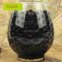 1kg 100000pcs Bag Black Magic Pearl Vase Filler Shaped Crystal Soil Water Beads Mud Grow Jelly