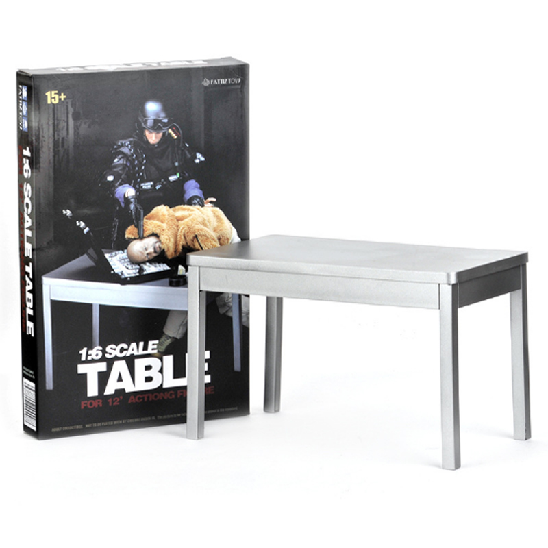 1/6 Scale Silver Table Display For 12