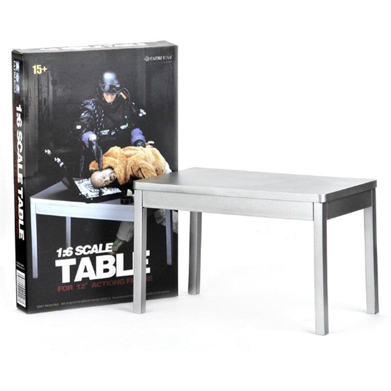 1/6 escala prata tabela exibição para 12