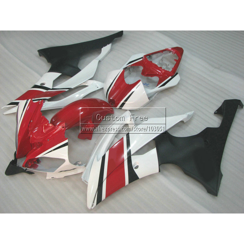 Injection mold motorcycle parts For YAMAHA YZF R6 2008 2009-2013 2014 fairings YZFR6 08-14 white red black fairing kit JL49 high quality motorcycle injection mold factory fairings kit for yamaha yzfr1 2007 2008 yzf r1 07 08 white red body fairing parts