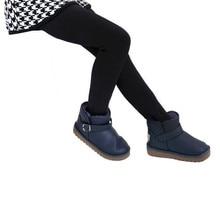 Зимние брюки для девочек; детские плотные теплые леггинсы с эластичным поясом