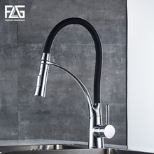 Newly Design 360 Swivel 100% Solid Brass Single Handle Mixer Sink Tap Pull Out Down Kitchen Faucet In Chrome Finish